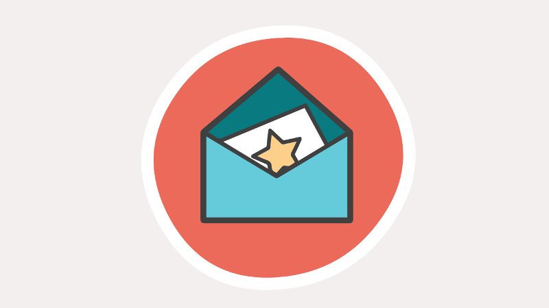 Envelope icon with a starred note inside